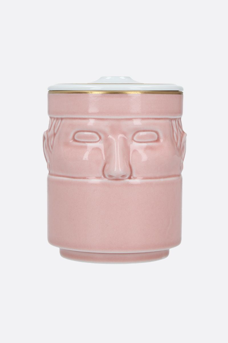 GINORI 1735: Il Seguace porcelain candle holder with cover Color Pink_1