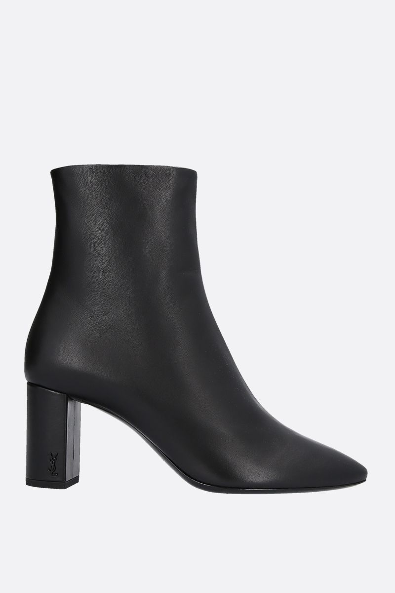 SAINT LAURENT: Lou nappa ankle boots Color Black_1