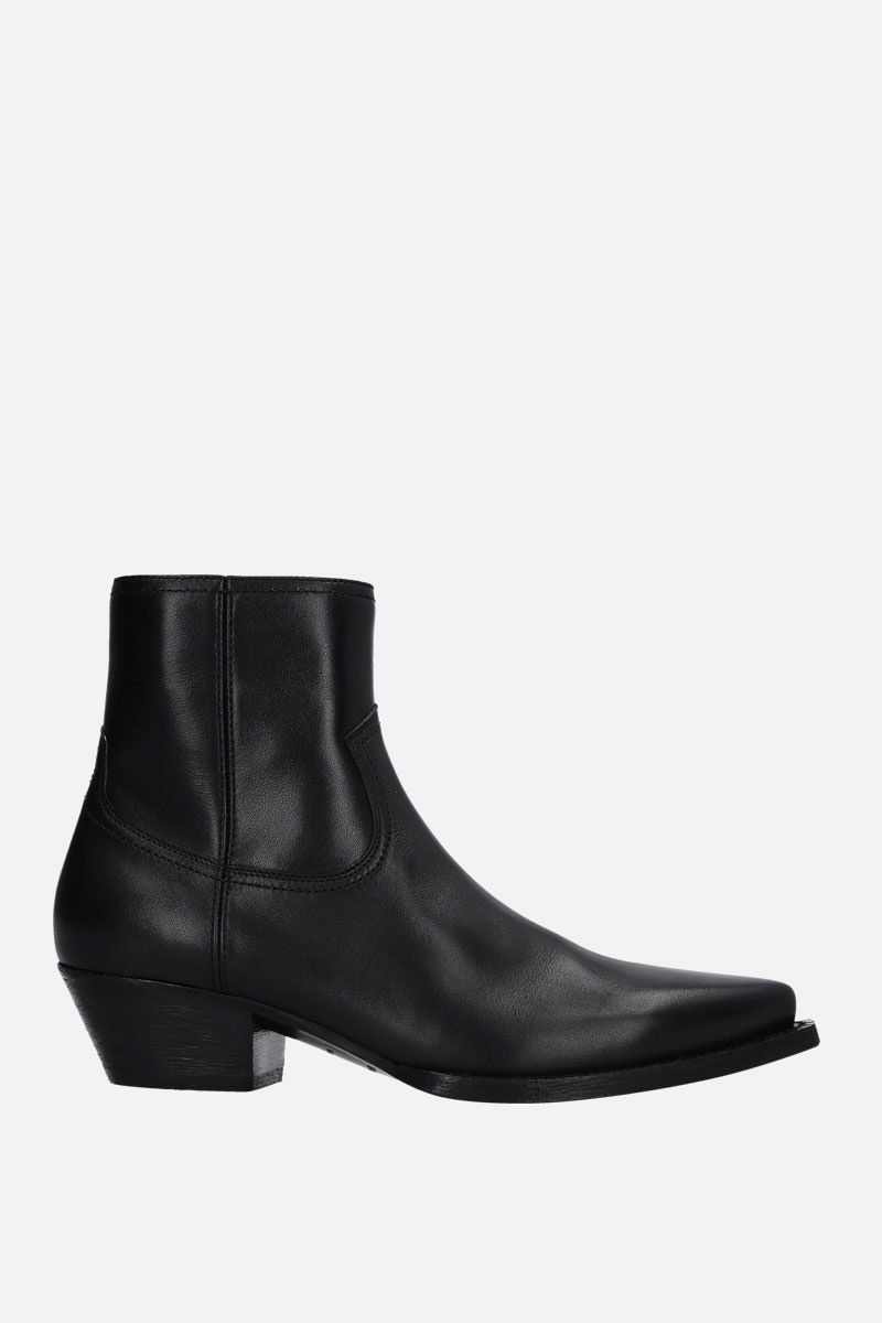 SAINT LAURENT: Lukas western boots in smooth leather Color Black_1