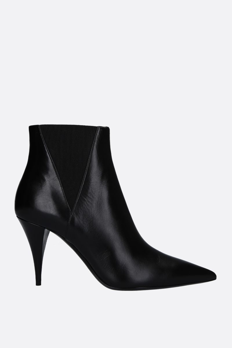 SAINT LAURENT: Kiki ankle boots in smooth leather Color Black_1