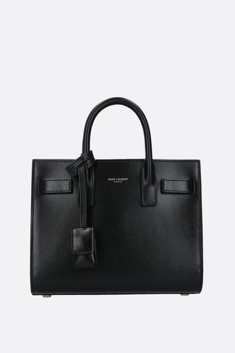 SAINT LAURENT: Sac de Jour nano smooth leather handbag Color Black_1