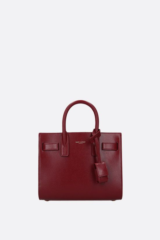 SAINT LAURENT: Sac de Jour nano smooth leather handbag Color Red_1
