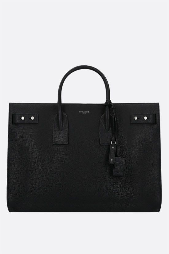 SAINT LAURENT: Sac de Jour large grainy leather handbag Color Black_1