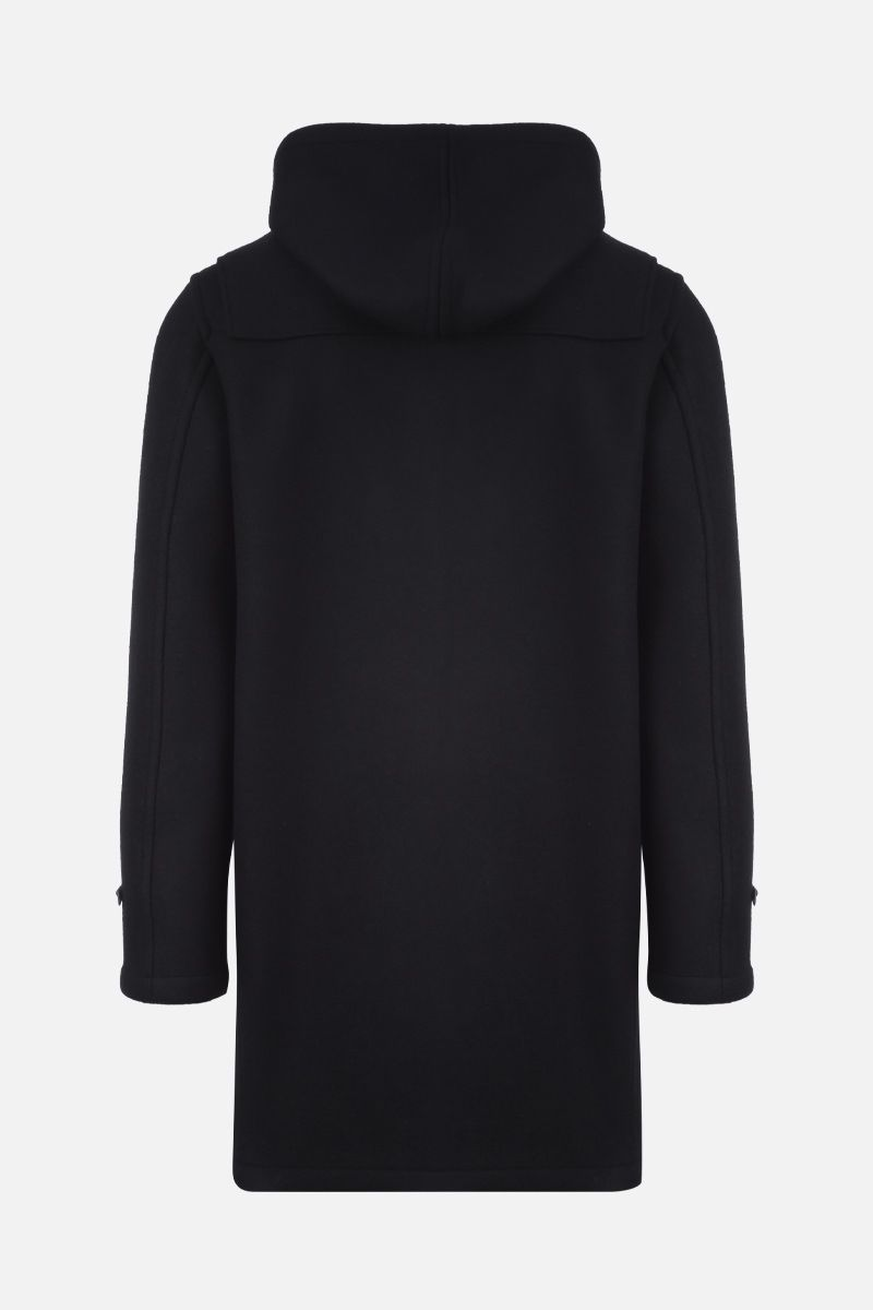 SAINT LAURENT: wool duffle coat Color Black_2