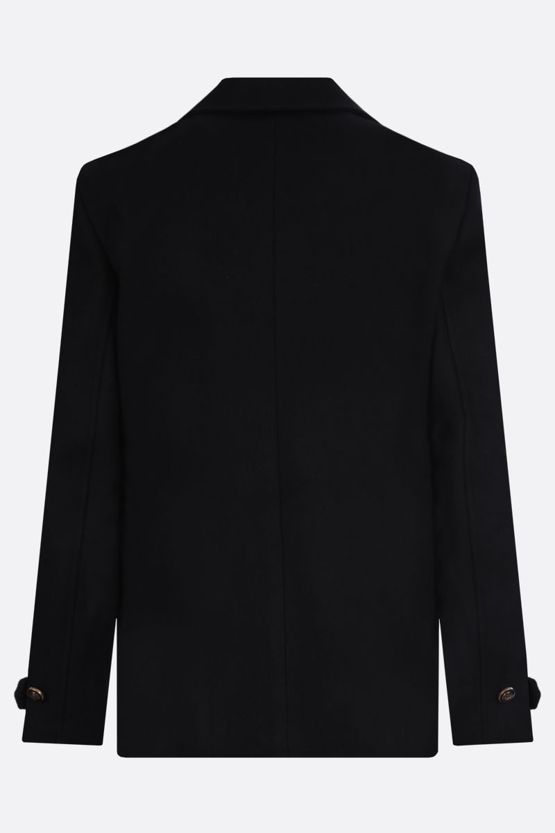 SAINT LAURENT: pcoat con bottoni in metallo Colore Nero_2