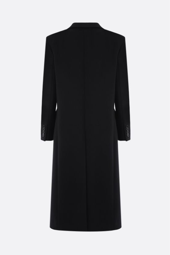 SAINT LAURENT: single-breasted wool coat Color Black_2