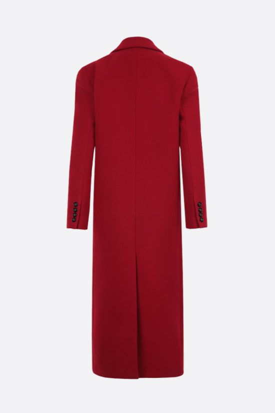 SAINT LAURENT: double-breasted cashmere coat Color Red_2