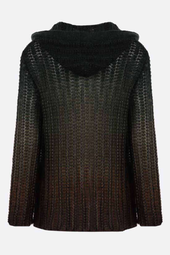 SAINT LAURENT: Baja mohair wool blend cardigan Color Brown_2