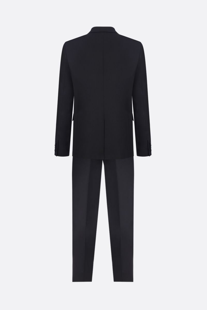 SAINT LAURENT: wool tuxedo suit with satin details Color Black_2