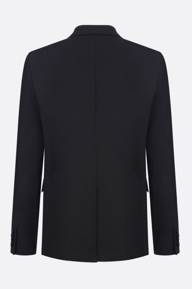 SAINT LAURENT: wool tuxedo suit with satin details Color Black_4