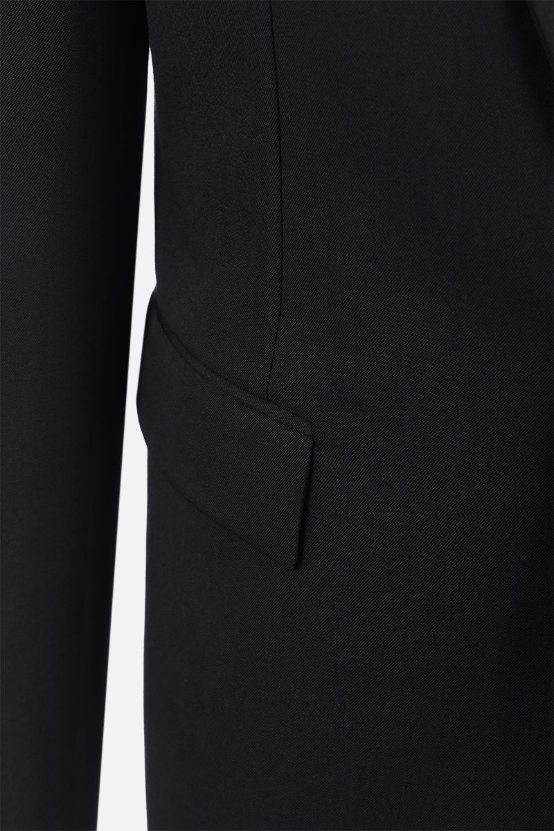 SAINT LAURENT: wool tuxedo suit with satin details Color Black_8