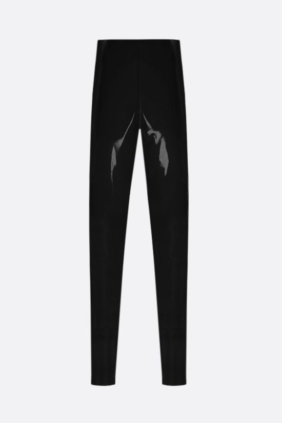 SAINT LAURENT: high-waist latex leggings Color Black_2