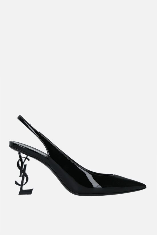 SAINT LAURENT: slingback Opyum in vernice Colore Nero_1