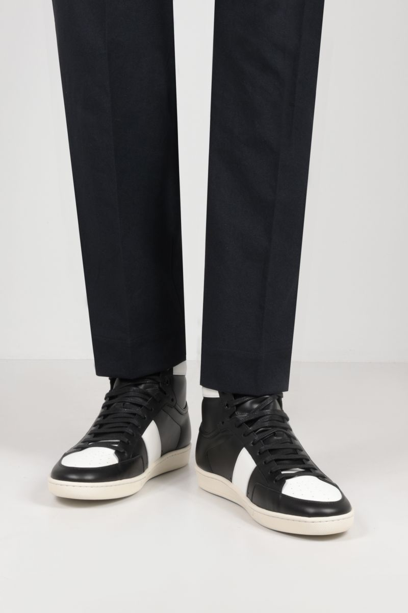 SAINT LAURENT: Signature Court SL/10H smooth leather high-top sneakers Color Black_2