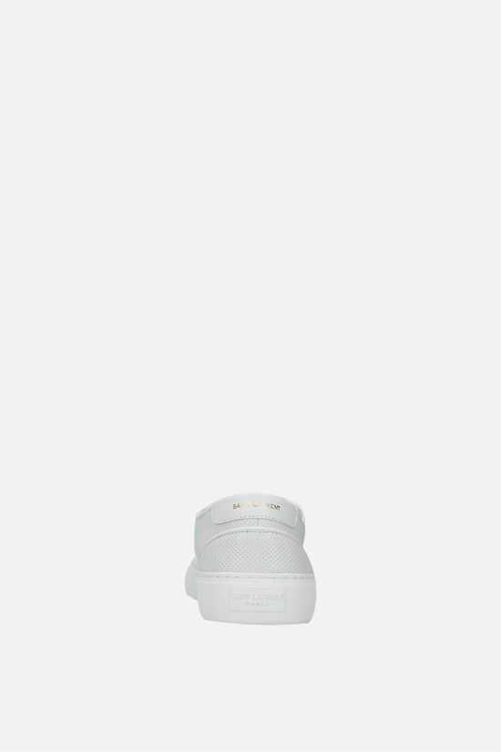 SAINT LAURENT: Venice perforated leather sneakers Color White_4