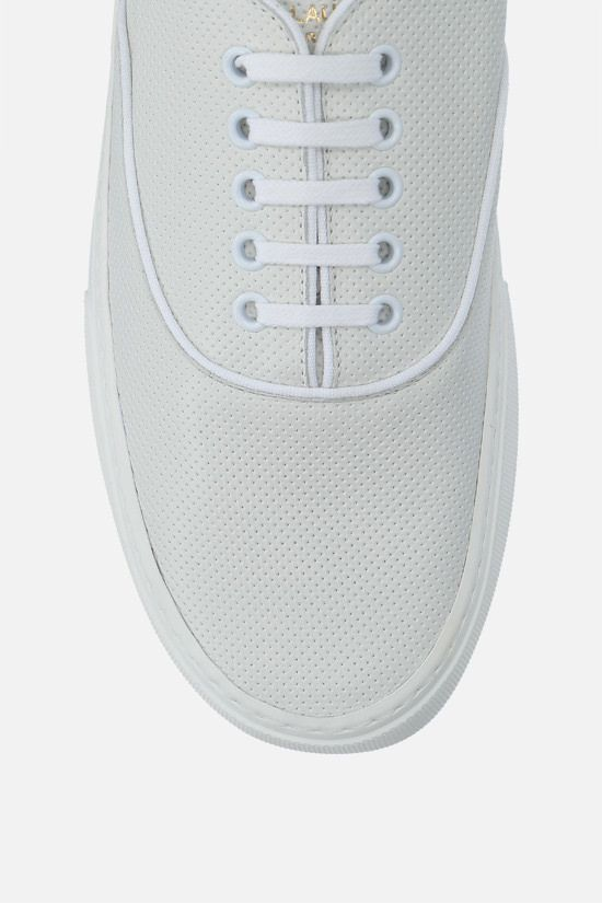 SAINT LAURENT: Venice perforated leather sneakers Color White_5