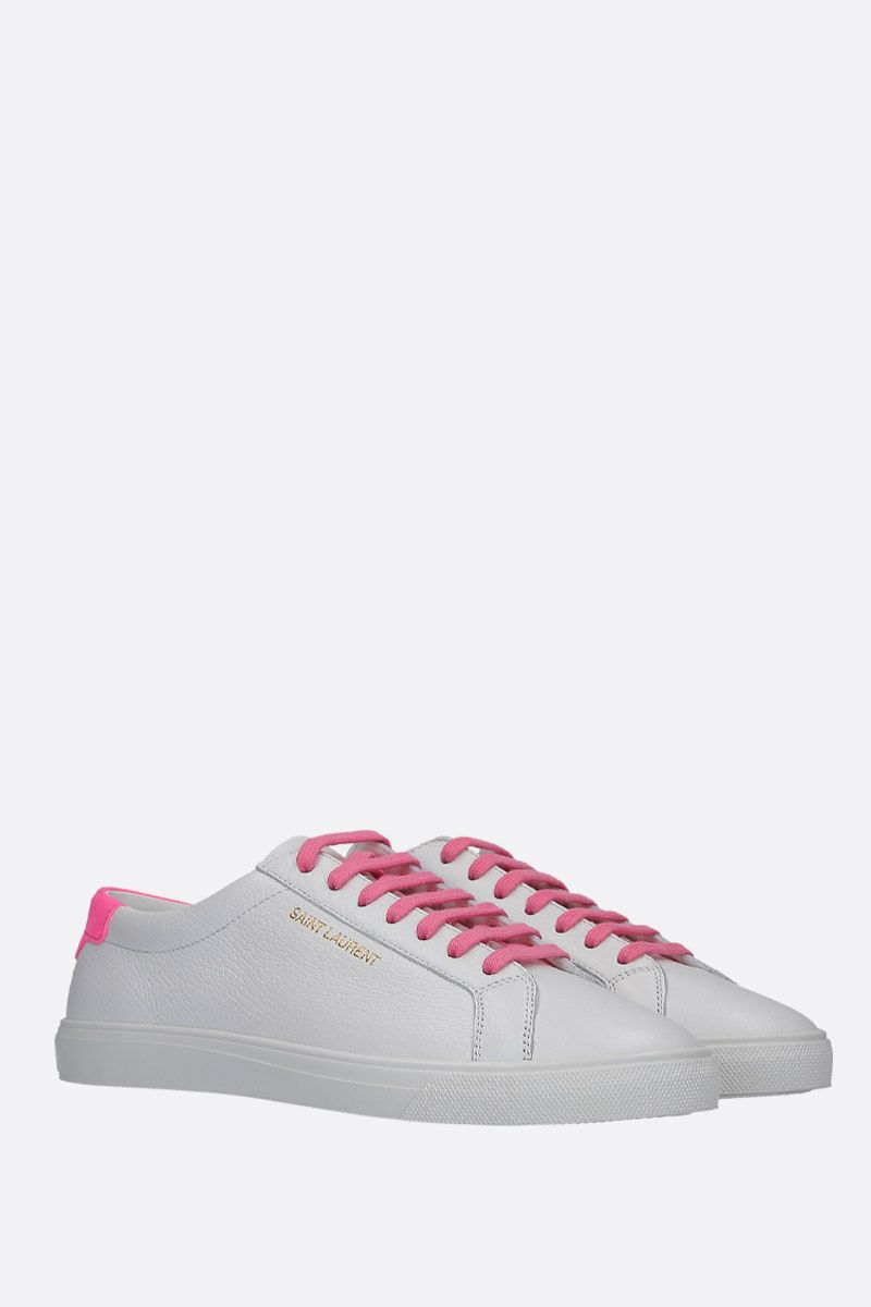 SAINT LAURENT: sneaker low-top Andy in pelle martellata_2