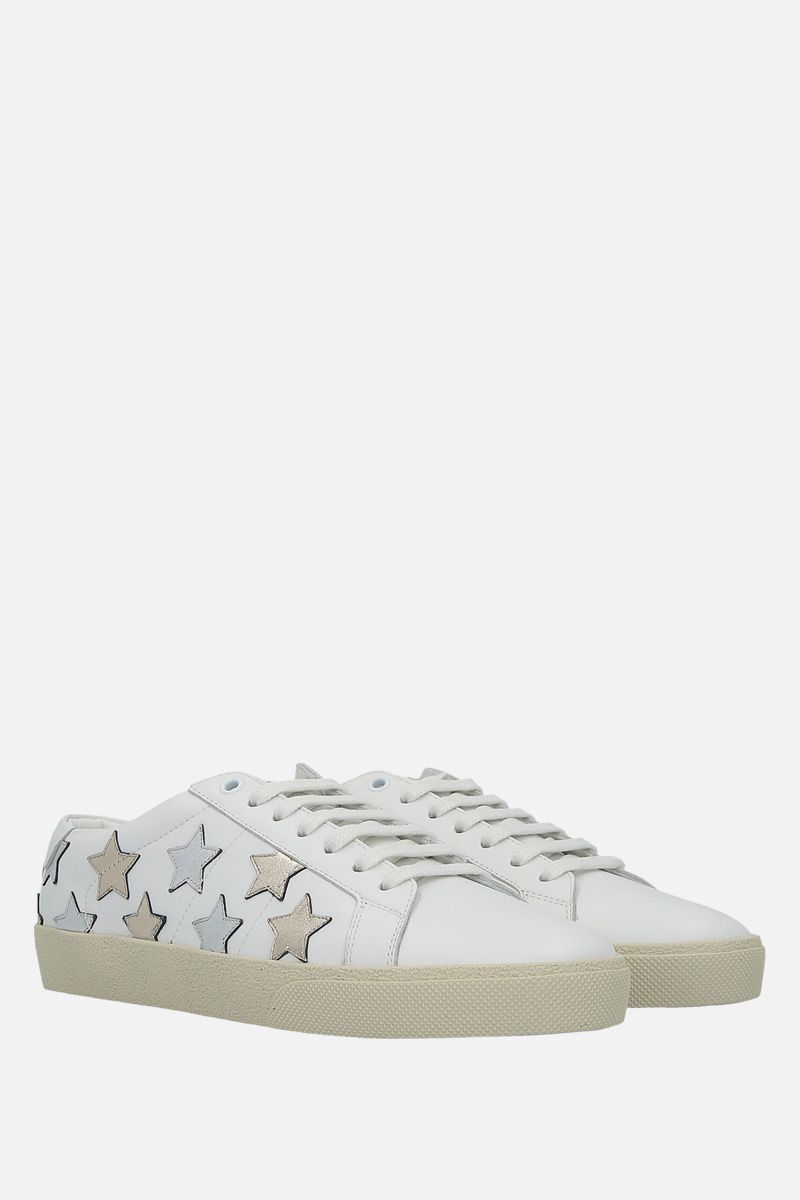 SAINT LAURENT: SL/06 20 Star smooth leather sneakers_2