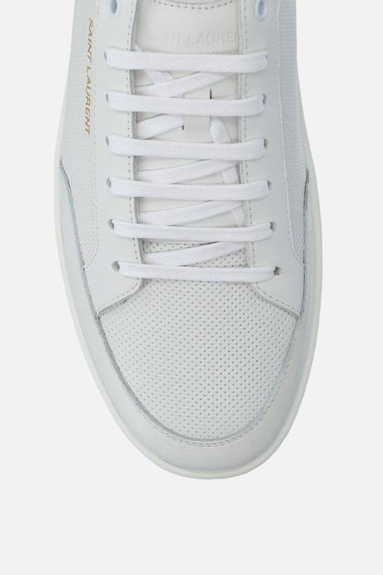 SAINT LAURENT: Court Classic SL/10 perforated leather sneakers Color White_4