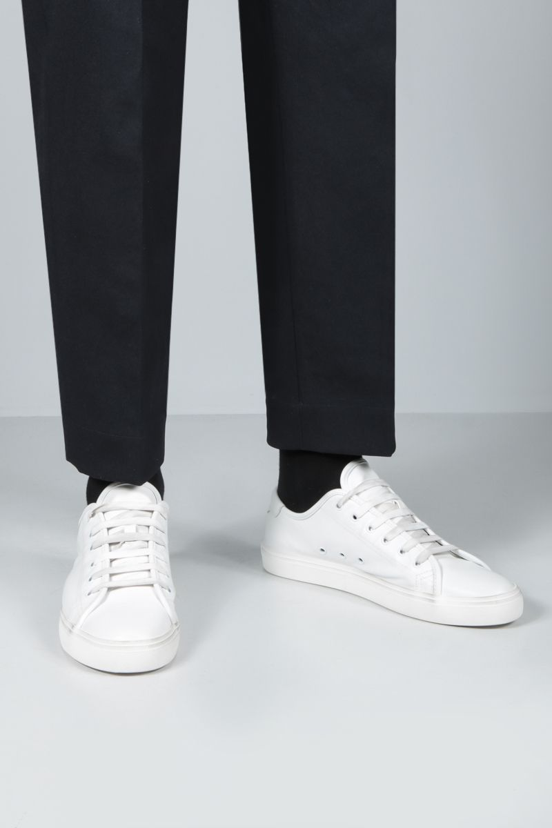 SAINT LAURENT: sneaker Malibu in canvas Colore Bianco_2