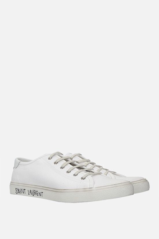 SAINT LAURENT: Malibu canvas sneakers Color White_2