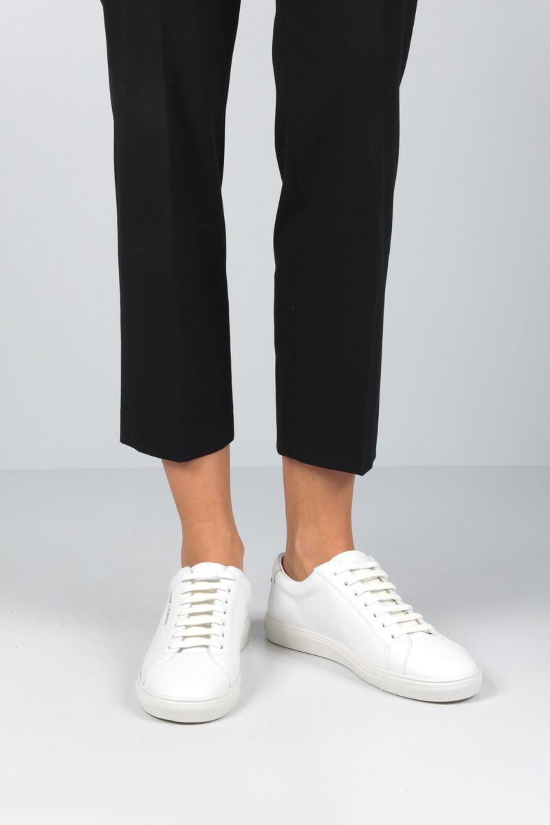 SAINT LAURENT: Andy low-top sneakers in smooth leather Color White_2