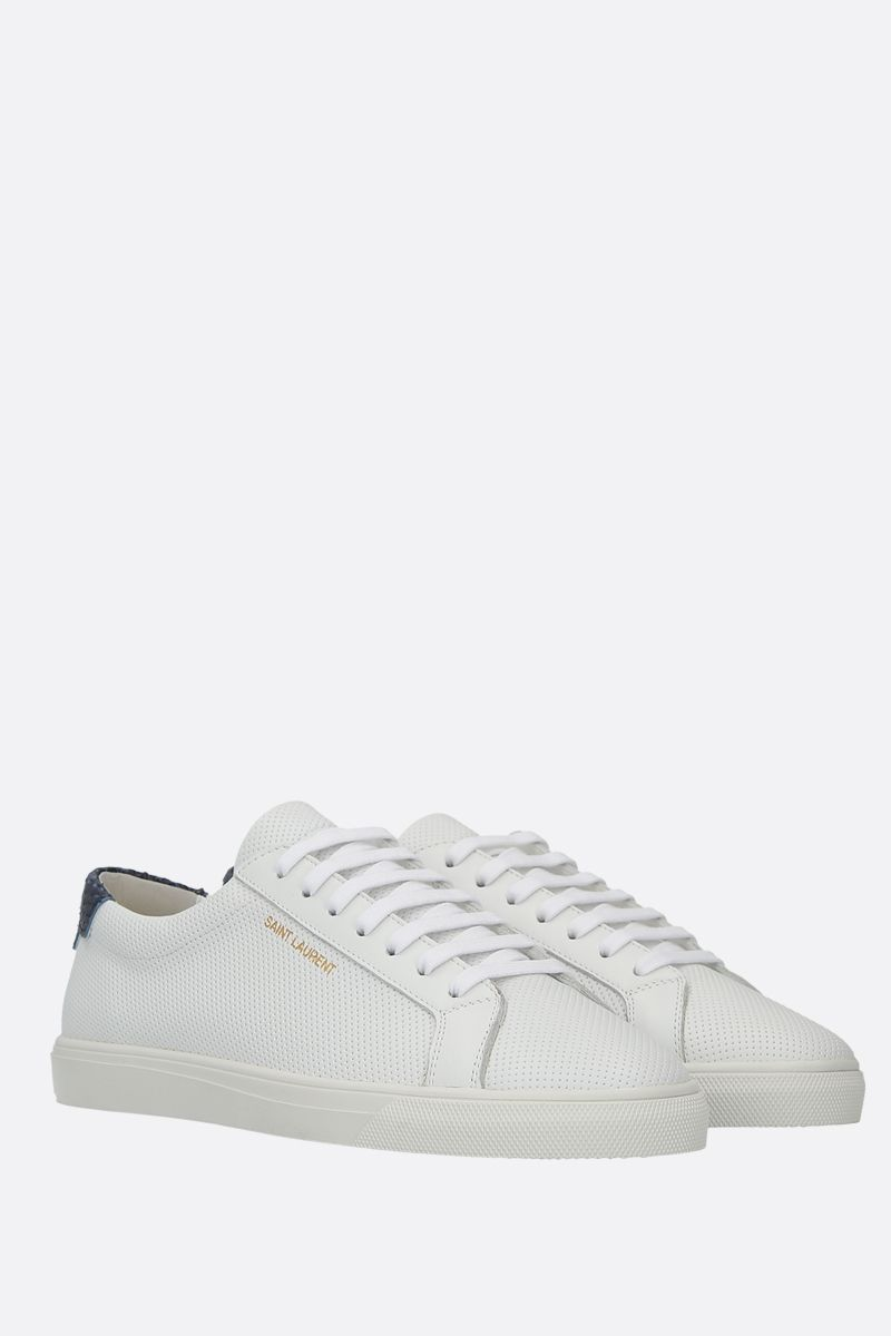 SAINT LAURENT: Andy perforated leather sneakers Color Multicolor_2