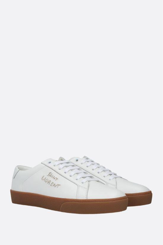 SAINT LAURENT: Court Classic SL/06 smooth leather sneakers Color White_2