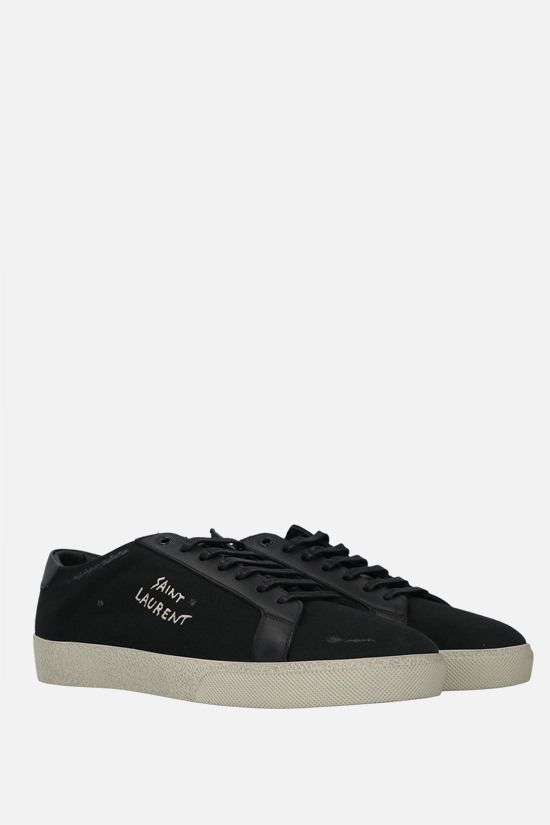 SAINT LAURENT: sneaker Court Classic SL/06 in canvas Colore Nero_2