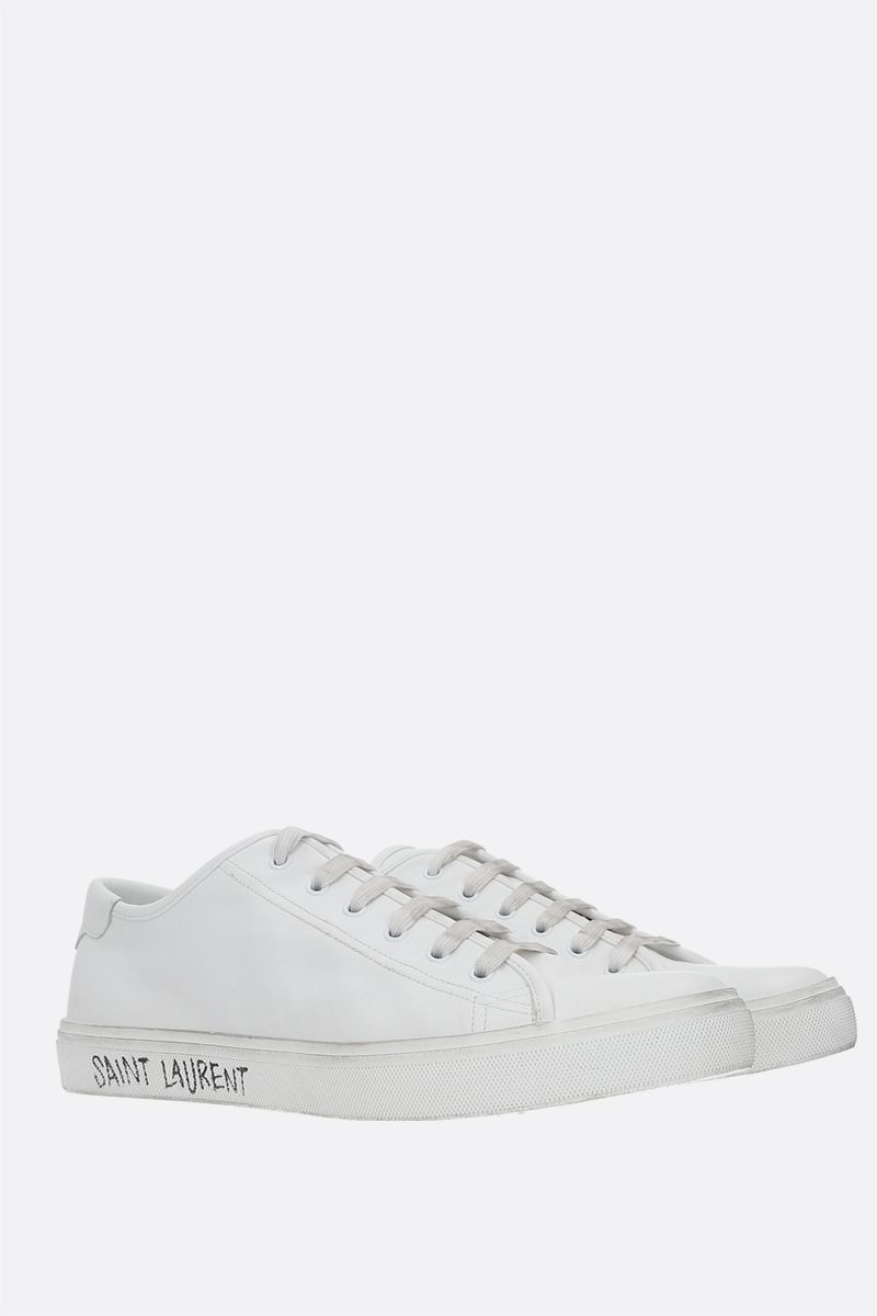 SAINT LAURENT: Malibu smooth leather sneakers Color White_2