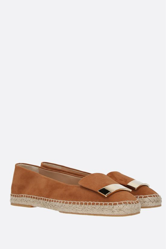 SERGIO ROSSI: sr1 suede espadrilles Color Brown_2