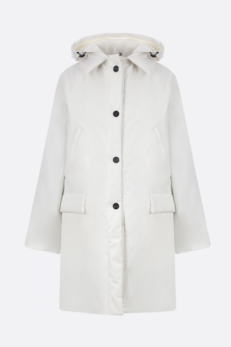 KASSL EDITIONS: padded jacket in coated canvas Color White_1