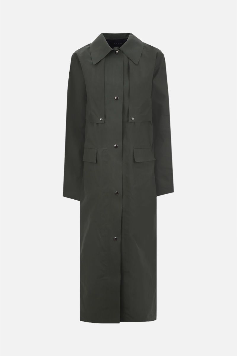 KASSL EDITIONS: technical fabric oversize trench coat Color Green_1