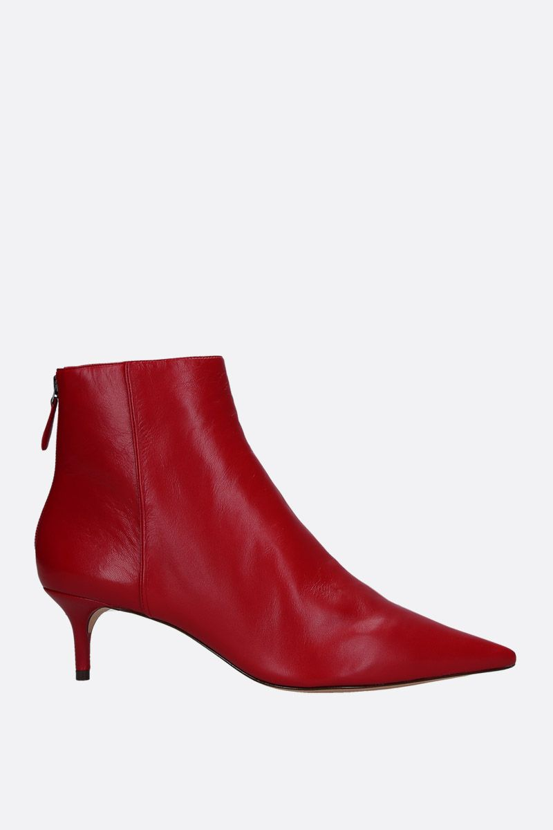 ALEXANDRE BIRMAN: Kittie ankle boots in soft nappa Color Red_1