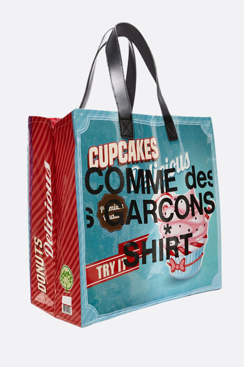 COMME des GARCONS SHIRT: Cupcakes print PVC tote Color Multicolor_2