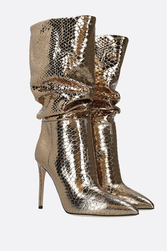 PARIS TEXAS: laminated python-embossed leather boots_2