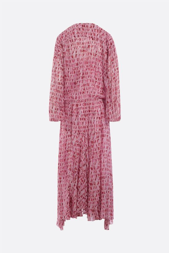 ISABEL MARANT ETOILE: Saureli georgette long dress Color Red_2