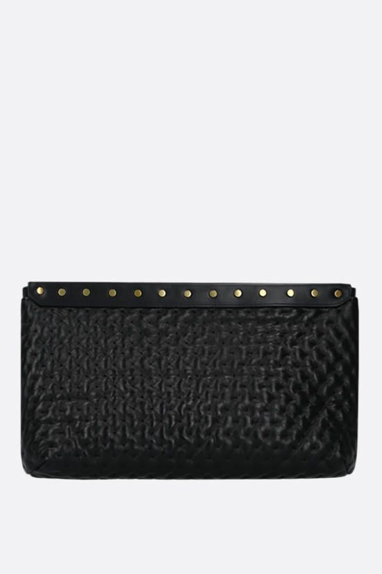 ISABEL MARANT: Luz quilted nappa pouch Color Black_1