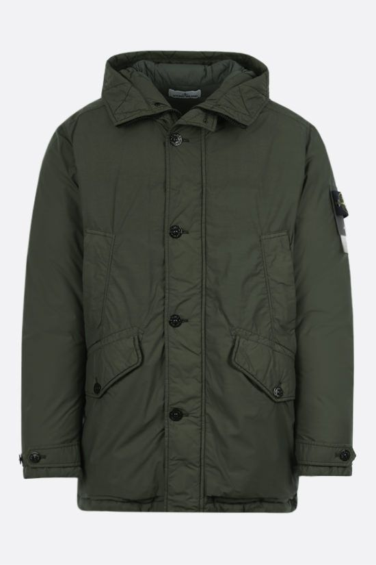 STONE ISLAND: Naslan Light Watro fabric padded parka Color Green_1
