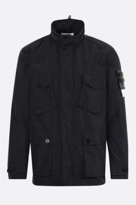 STONE ISLAND: Micro Reps fabric bush jacket Color Black_1