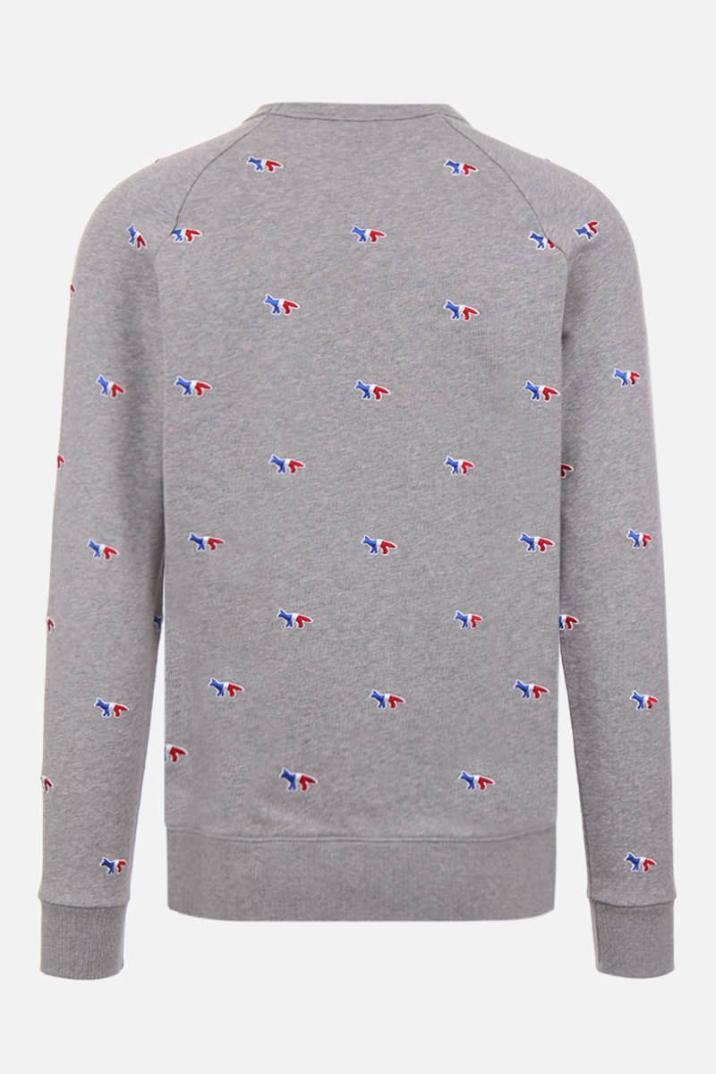 MAISON KITSUNÈ: Tricolor Fox embroidered cotton sweatshirt Color Grey_2