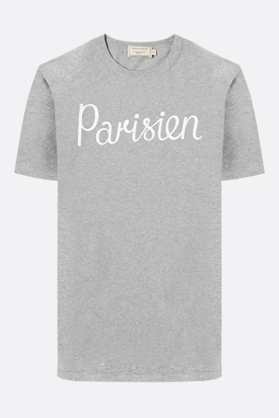 MAISON KITSUNÈ: Parisien cotton t-shirt Color Grey_1