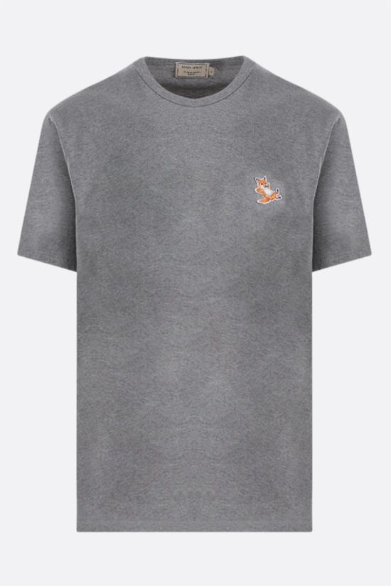 MAISON KITSUNÈ: Chillax Fox patch cotton t-shirt Color Grey_1
