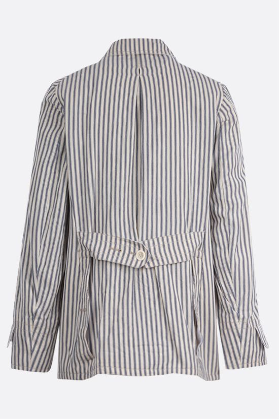 MAISON MARGIELA: striped canvas jacket_2