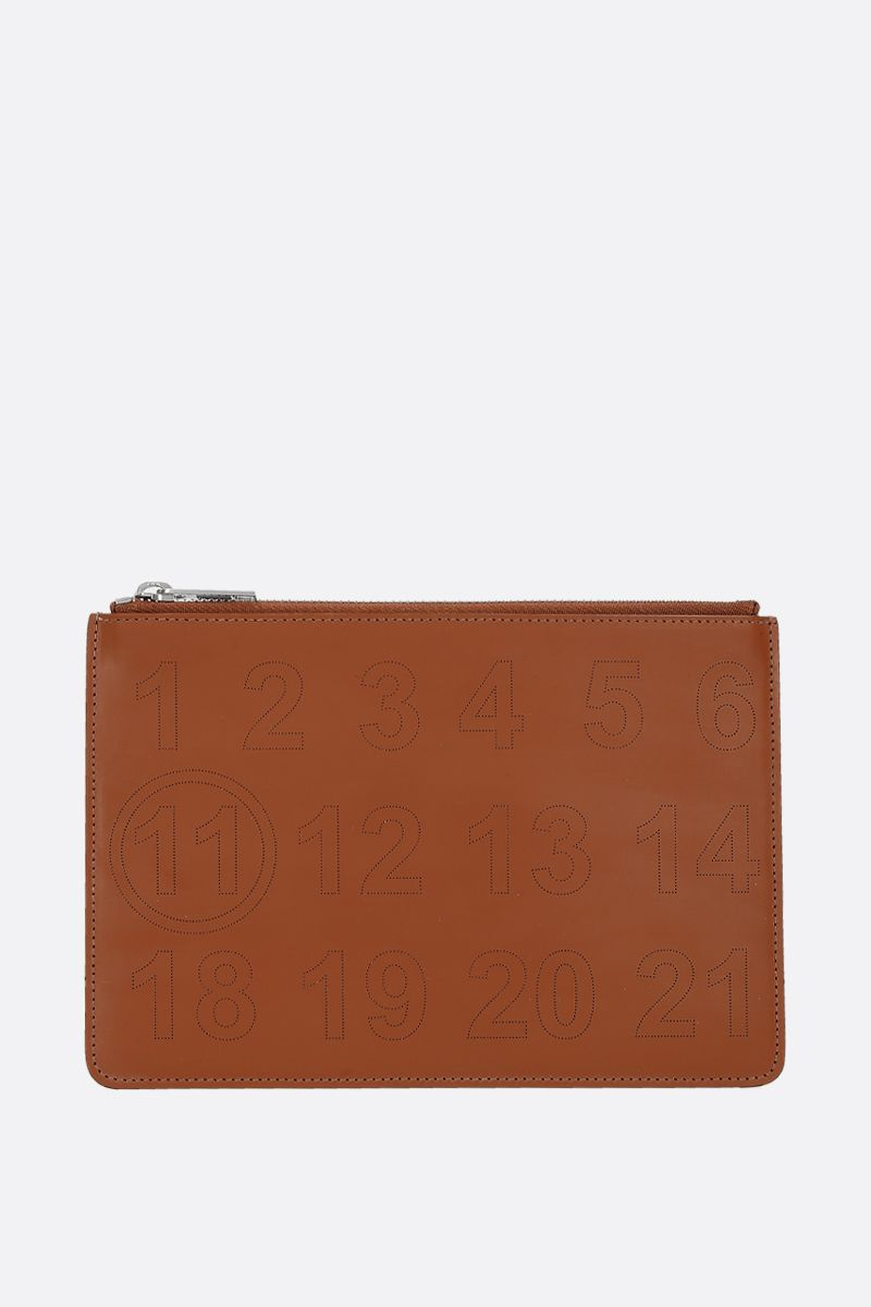 MAISON MARGIELA: smooth leather pouch Color Brown_1