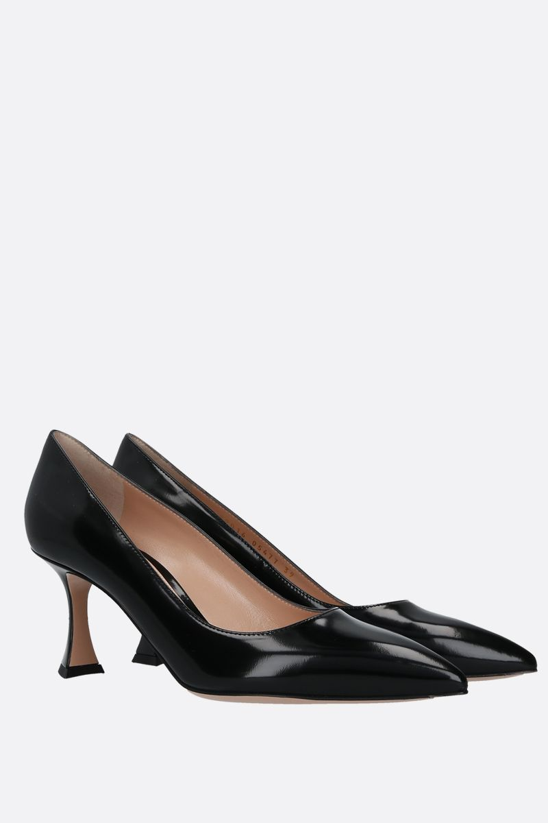 GIANVITO ROSSI: shiny leather pumps Color Black_2