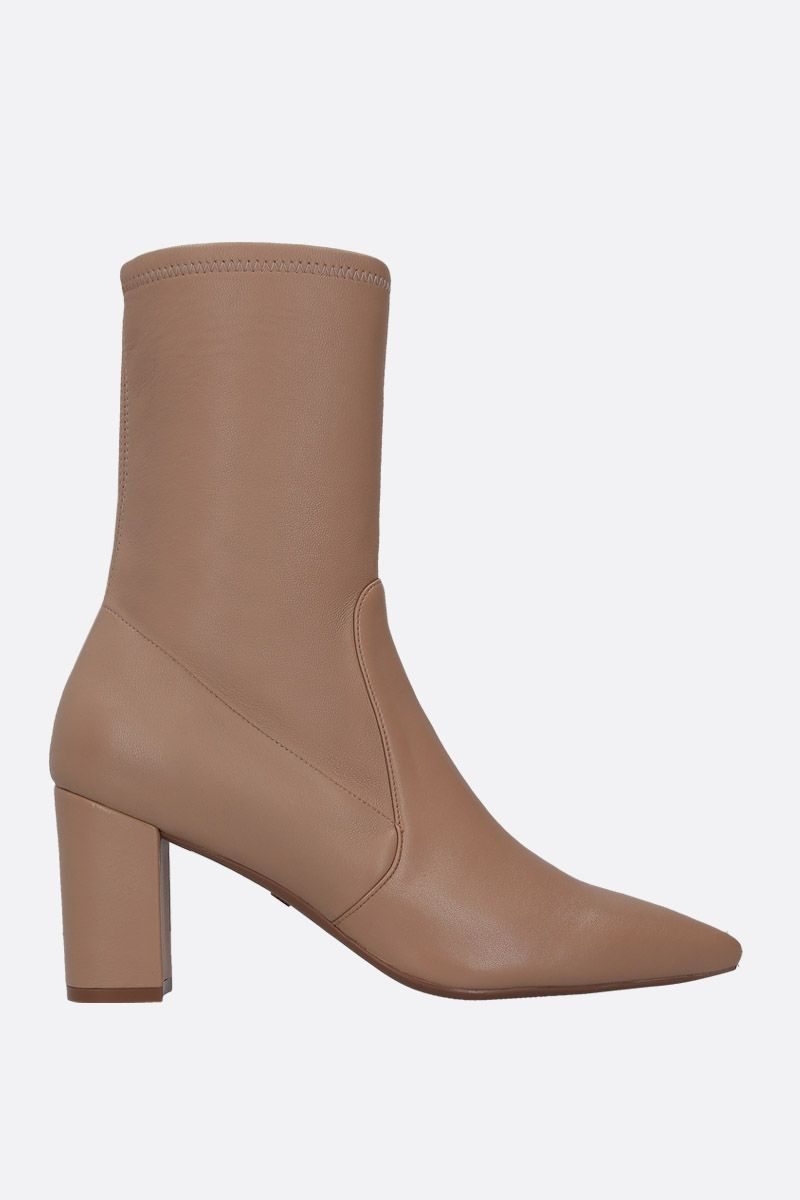 STUART WEITZMAN: Landry ankle boots in soft nappa Color Neutral_1