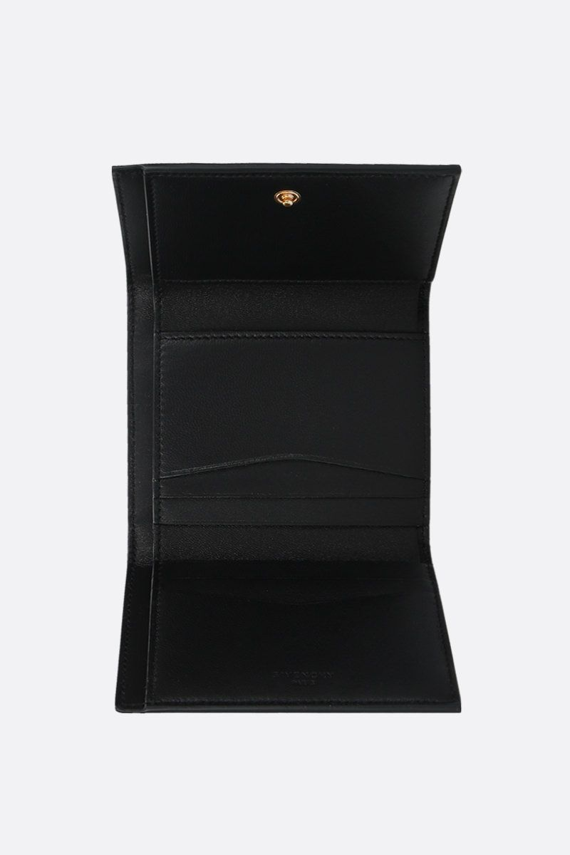GIVENCHY: GV3 trifold wallet in quilted leather Color Black_2