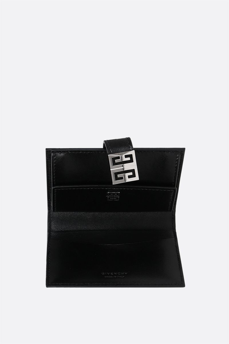 GIVENCHY: 4G smooth leather card case Color Black_2
