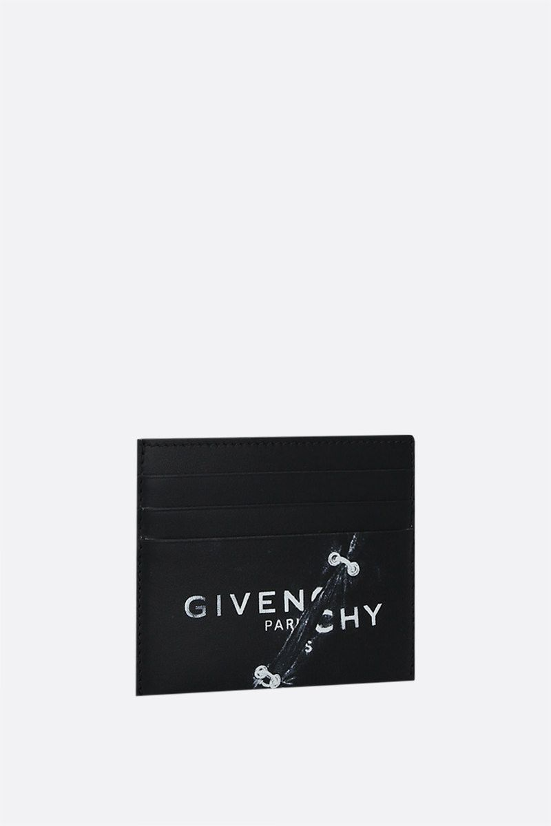 GIVENCHY: Givenchy Trompe-l'œil smooth leather card case Color Black_2